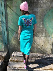 šaty tyrkysové