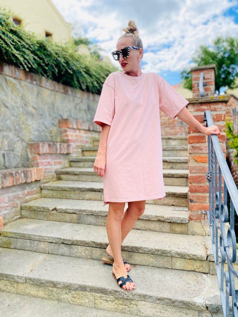 "Šaty růžové ""BIG-T"""