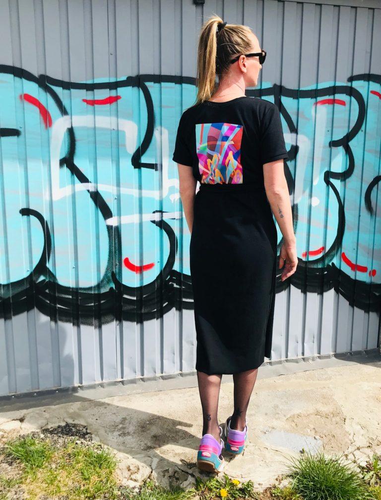 Šaty černé signature JKD