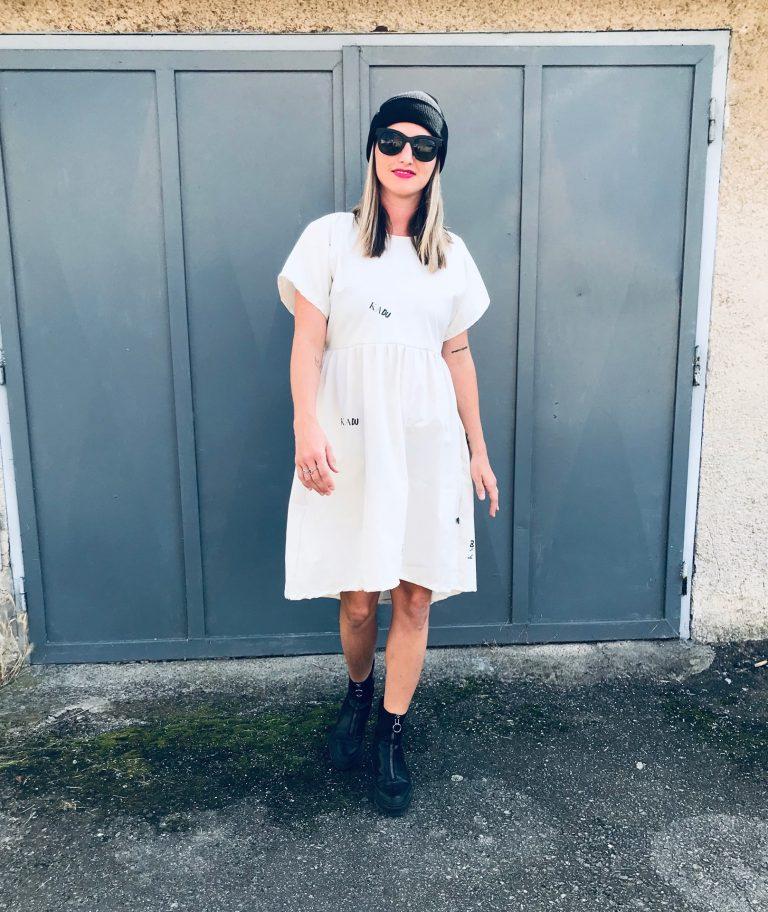 "Šaty bílé ""popellino"""