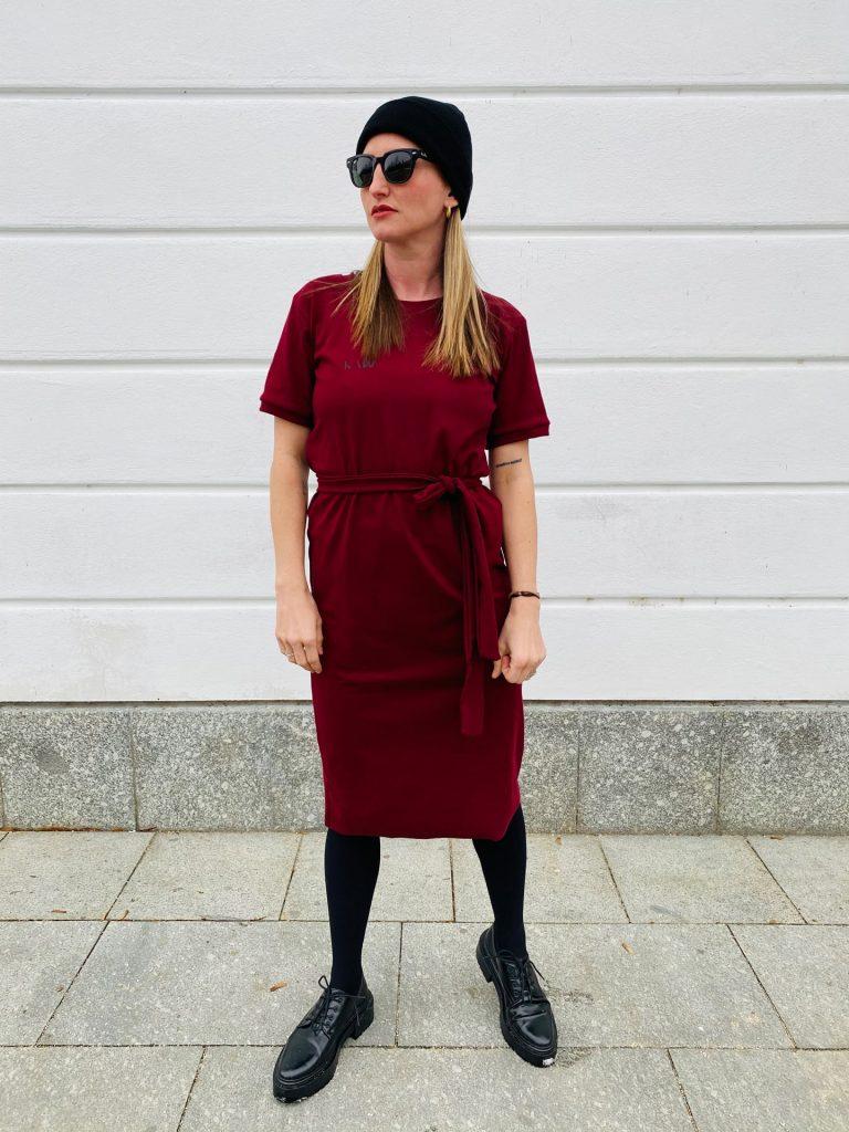 Šaty burgundy signature JKD