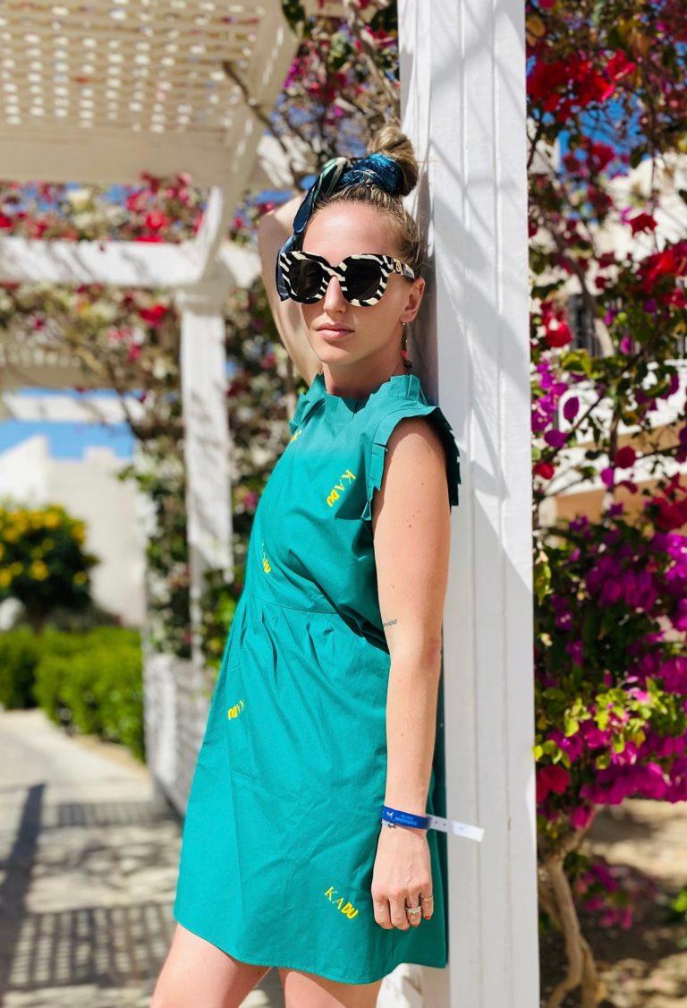 "Šaty smaragd ""popellino three"""