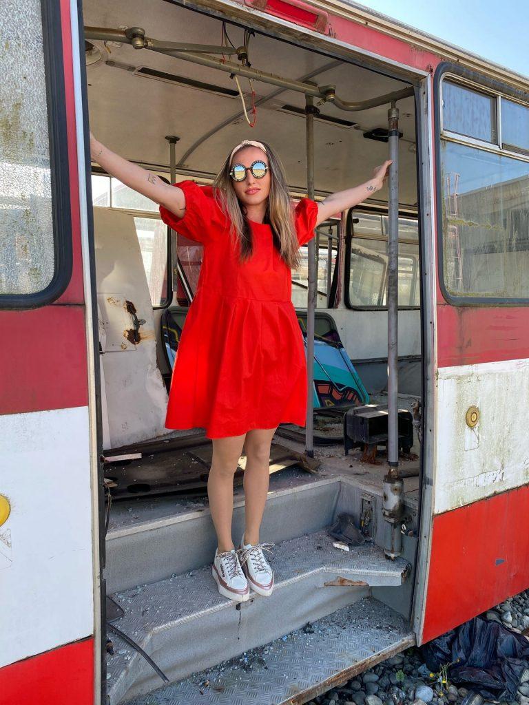 """Šaty červené """"BONBON"""""""