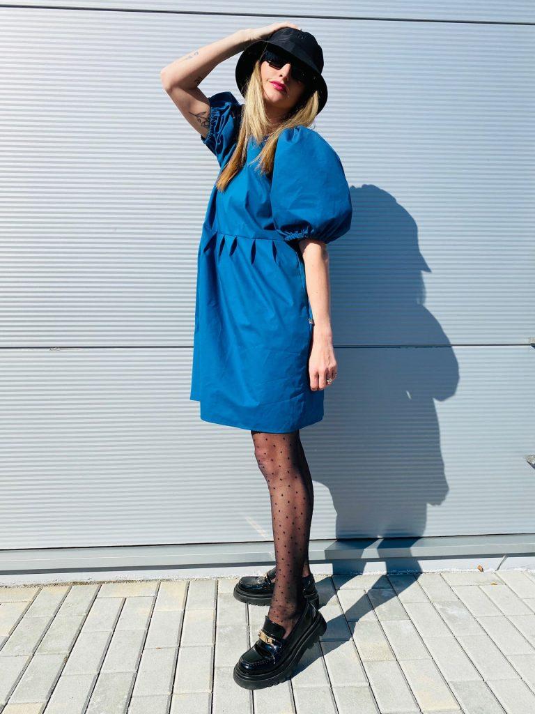 """Šaty modré """"BONBON"""""""