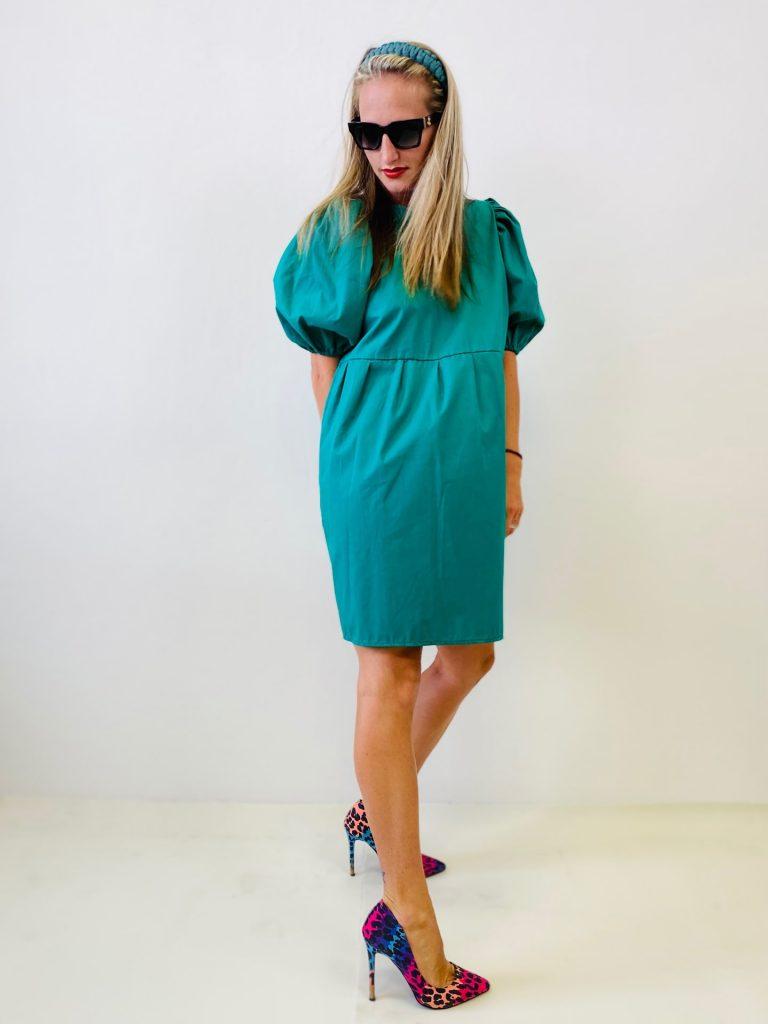 "Šaty smaragdové ""BONBON"""