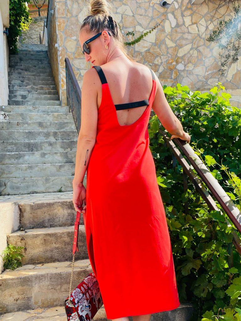 """Šaty červené """"LINES"""""""