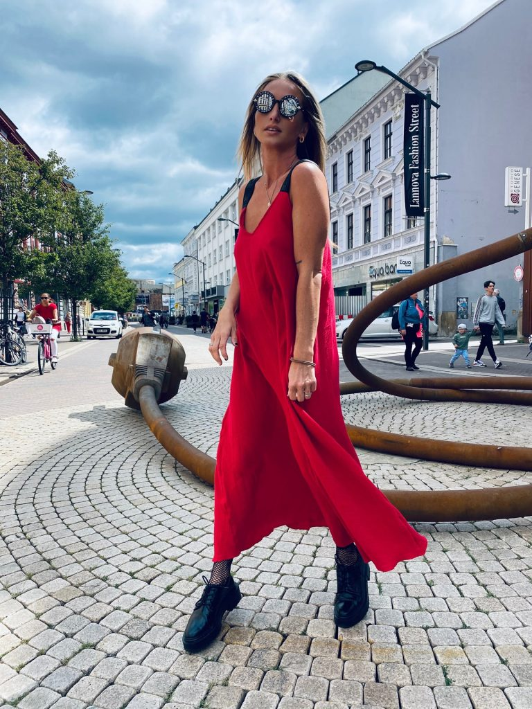 """Šaty červené """"RUBBER"""""""