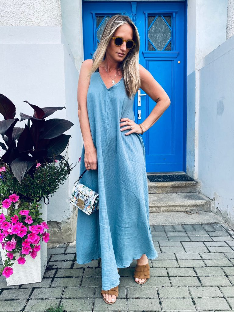 """Šaty modré """"RUBBER"""""""